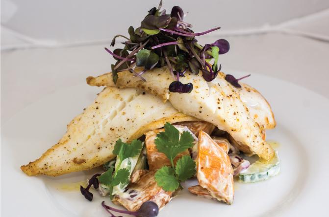 Grilled-tarakihi-with-spicy-kumara-salad