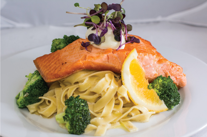 Salmon-and-broccoli-fettuccine