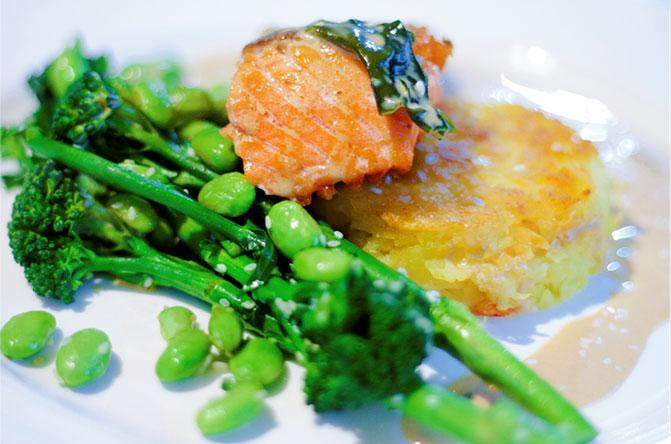 pan-fried-salmon-rosti-and-miso-cream