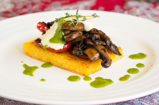 Mushrooms-polenta